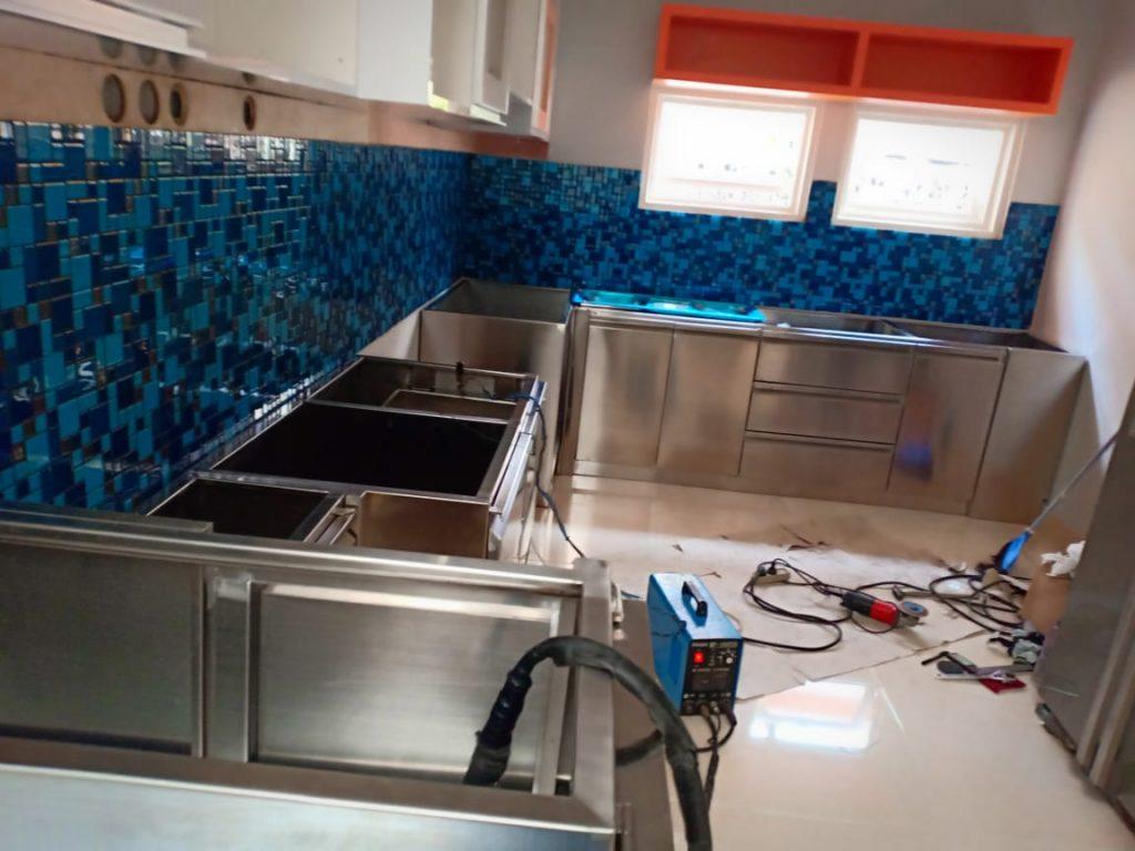 Kitchen Set Stainless Steel |Dapur Rumah Stainless